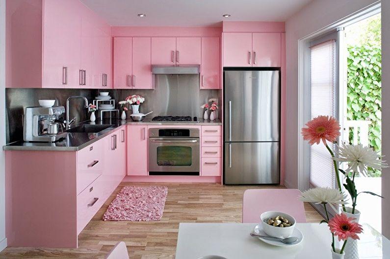 Cuisine en rose: 80 idées de design