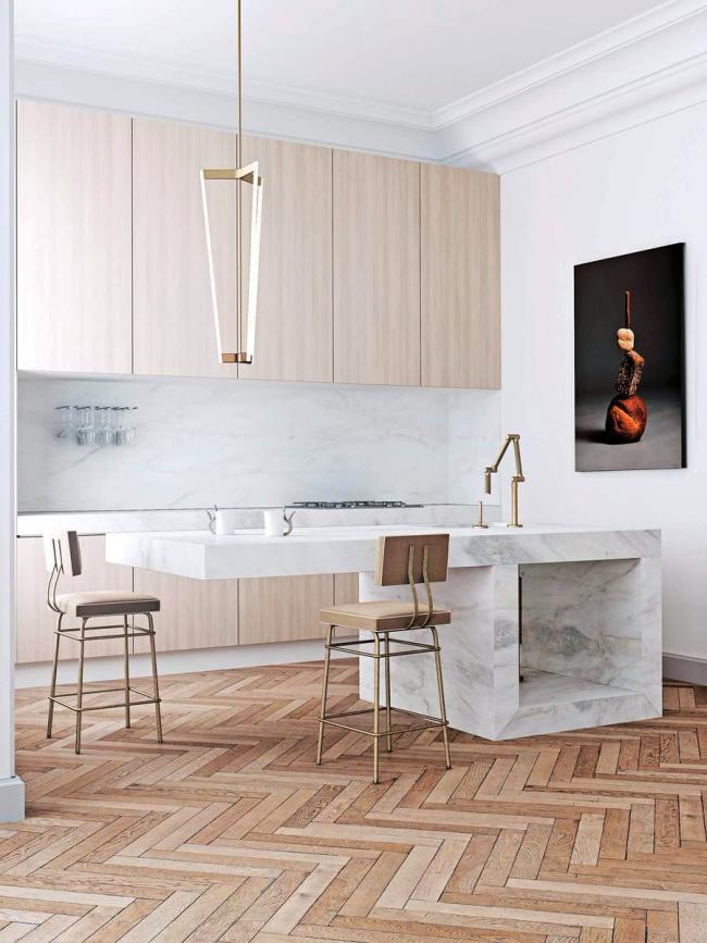 Les cuisines avec îlot sont une option de design à la fois fonctionnelle et esthétique.