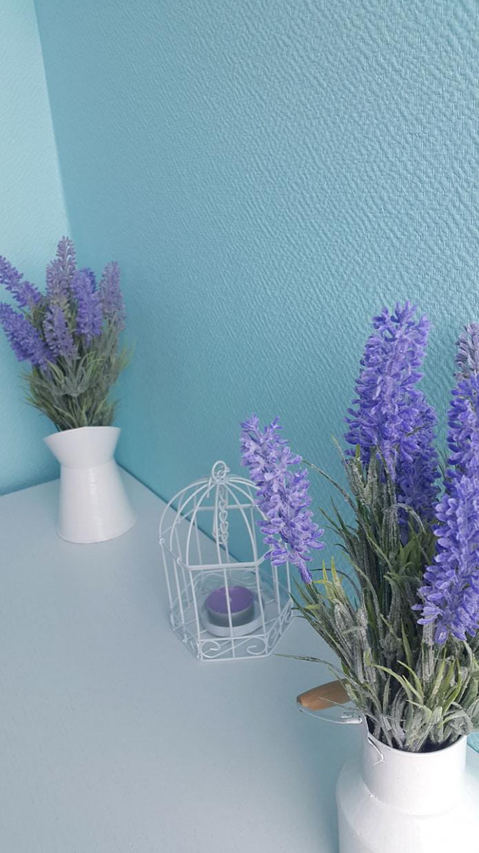 papier peint en verre bleu