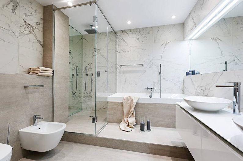 Salle de bain blanche - Design d'intérieur 2021