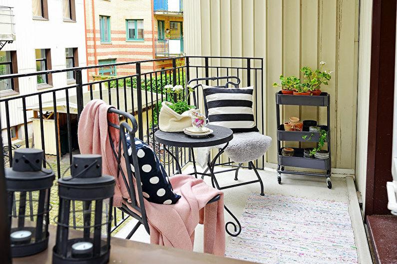 Design d'intérieur de balcon: 76 idées de photos