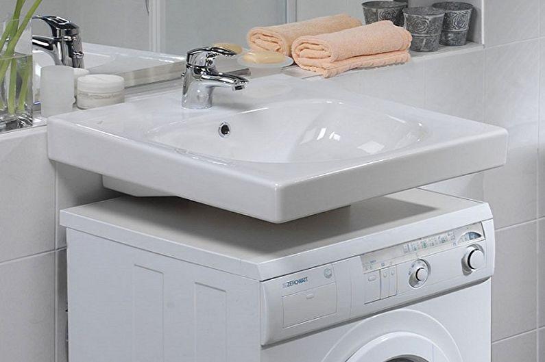 Évier au-dessus de la machine à laver (60 photos): types, comment choisir