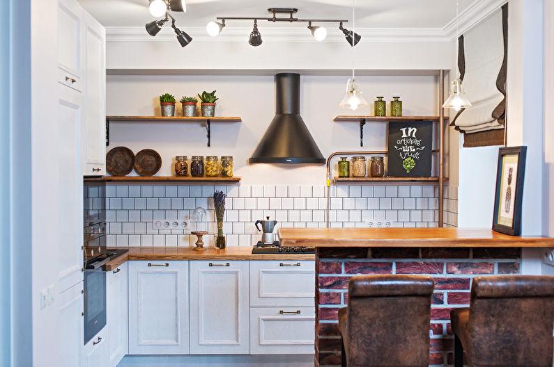 Idées de design pour une petite cuisine à Khrouchtchev (65 photos)