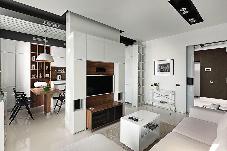 Mur dans le salon dans un style moderne (50+ photos)