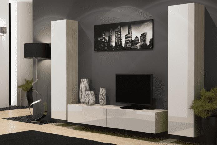 conception de mur à l'intérieur du salon