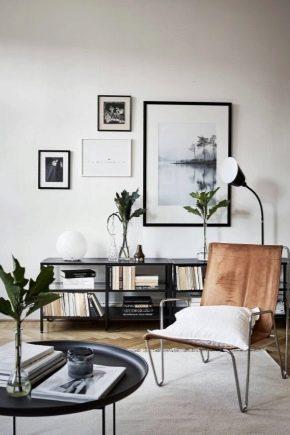 Options de design d'intérieur modernes pour un appartement d'une pièce
