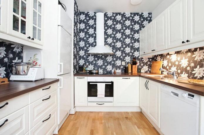 papier peint foncé pour la cuisine