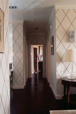Papier peint pour le couloir, agrandissant visuellement l'espace