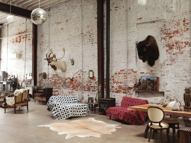 Le style loft est né de l'utilisation de locaux industriels vides