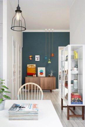 Style scandinave à l'intérieur d'un petit appartement