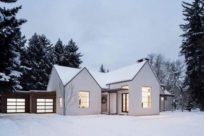 maison blanche de style scandinave