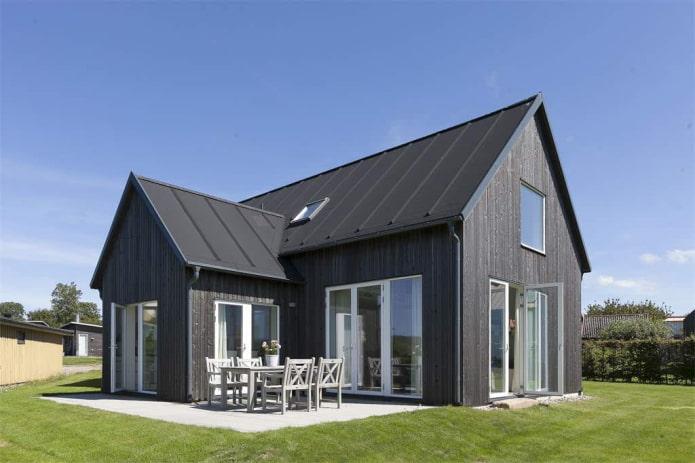 maison grise de style scandinave