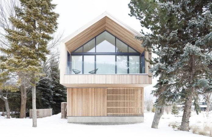 maison beige de style scandinave