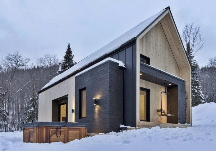 décoration extérieure d'une maison scandinave