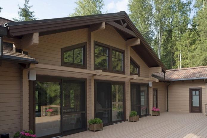 portes et fenêtres de la maison dans le style scandinave