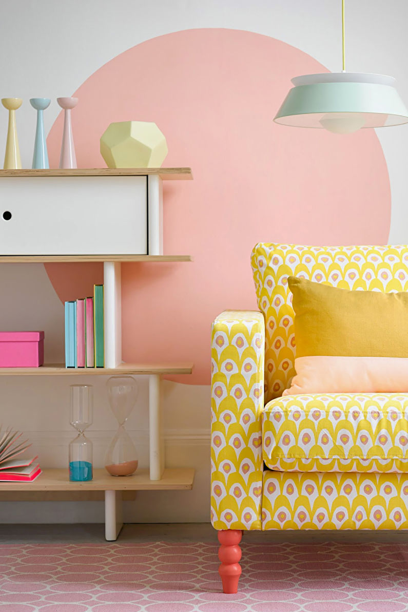 Combinaisons de couleurs pour sols, murs, plafonds et meubles - Couleurs pastel