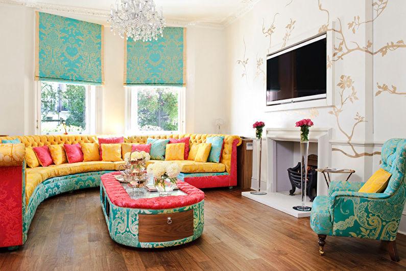 Combinaisons de couleurs pour le sol, les murs, le plafond et les meubles - Combinaisons de contraste