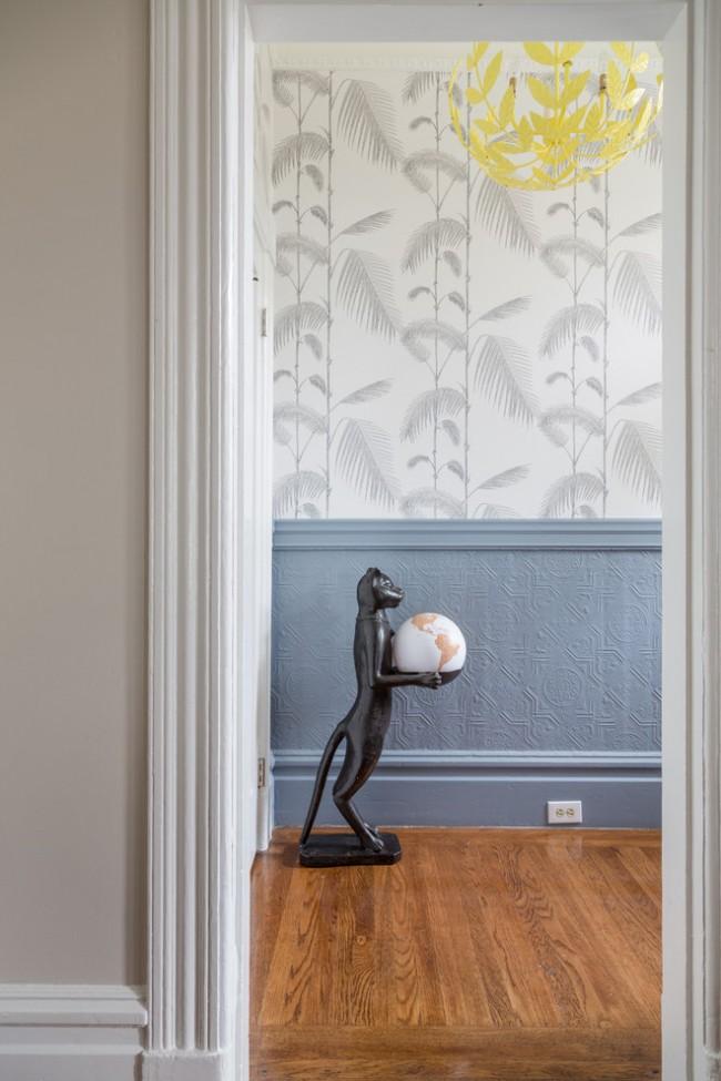 Tons pâles et modestes, mais design floral accrocheur - décoration de la maison dans un style transitionnel
