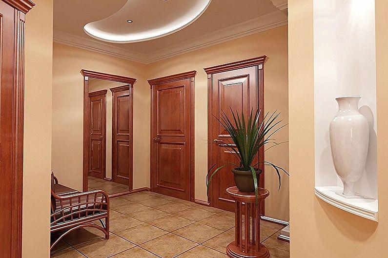 Conception de couloir dans un appartement - Couleurs et textures