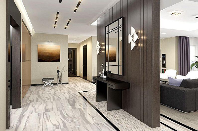 Couloir moderne - Design d'intérieur