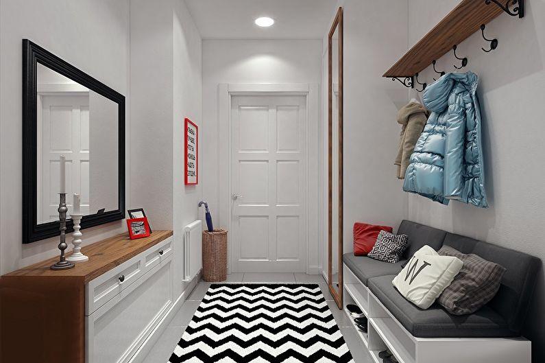 Couloir de style loft - Design d'intérieur