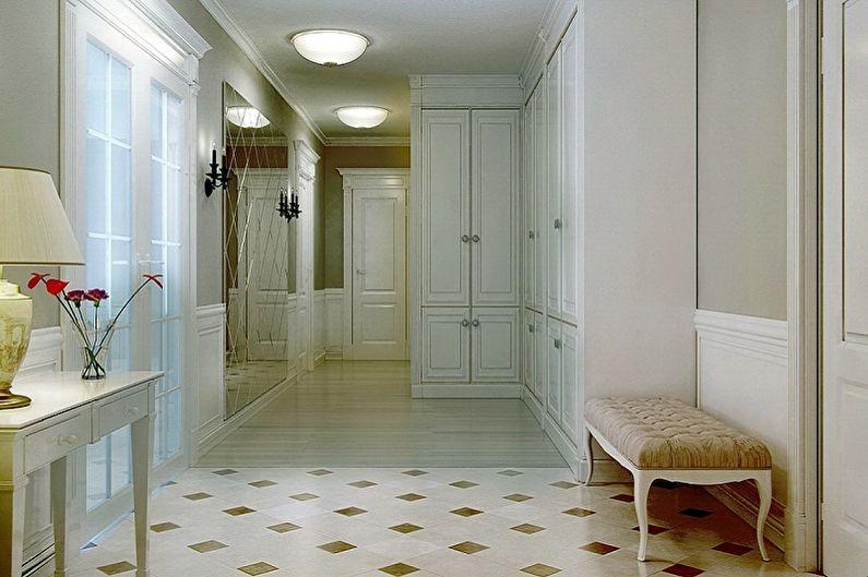 Conception de couloir dans l'appartement - Finition du sol