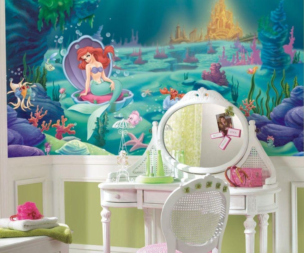 Photo 13 - Motif populaire de papier peint dans la chambre pour une fille - personnages de dessins animés