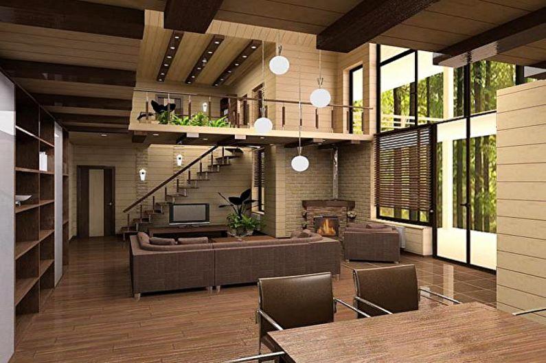 Intérieur d'un chalet ou d'une maison de campagne - Conseils de conception