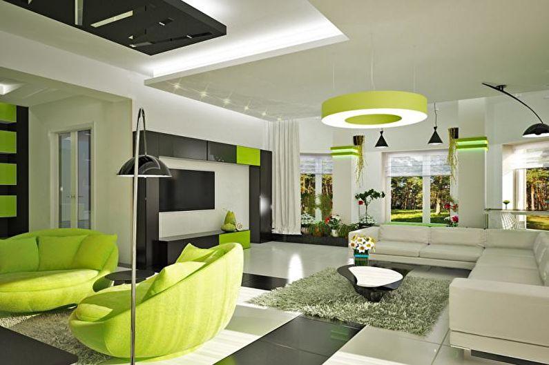 Intérieur d'un chalet ou d'une maison de campagne - Solutions de couleurs