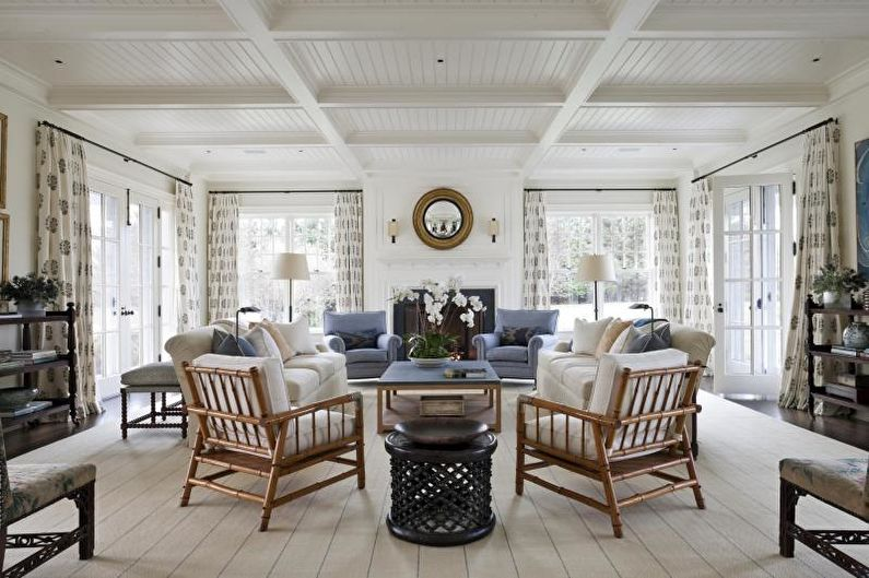 Cottage ou maison de campagne de style campagnard - Design d'intérieur