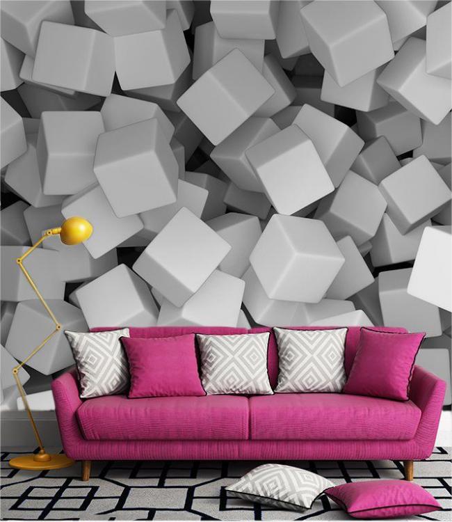 Papier peint volumétrique 3D comme panneau mural