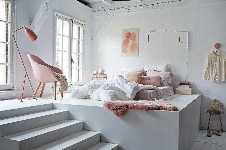 Types de lits de podium - Lit sur un podium monolithique