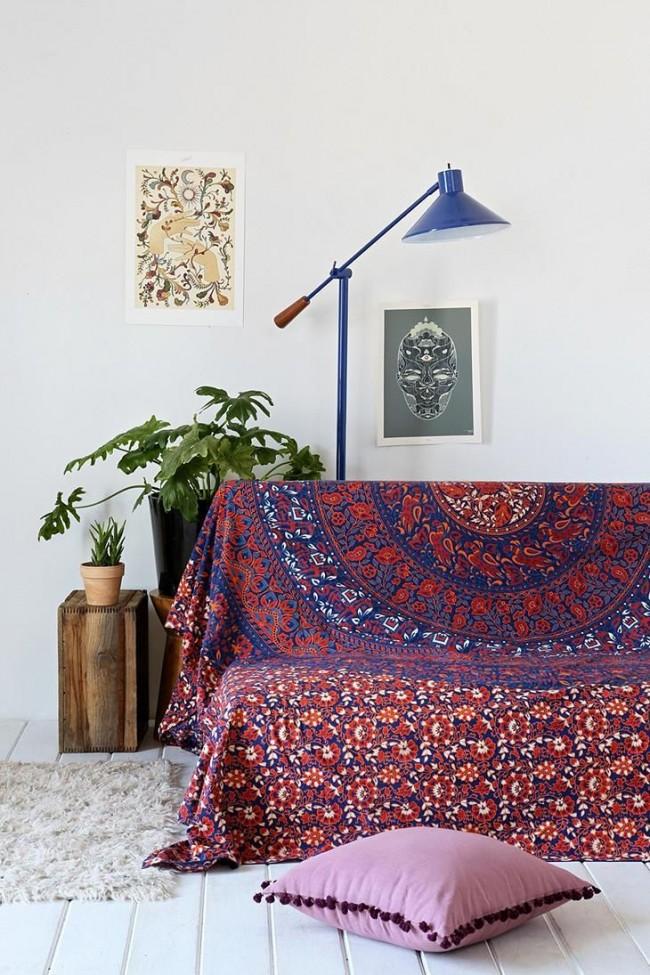 Cape en tapisserie à motif indien