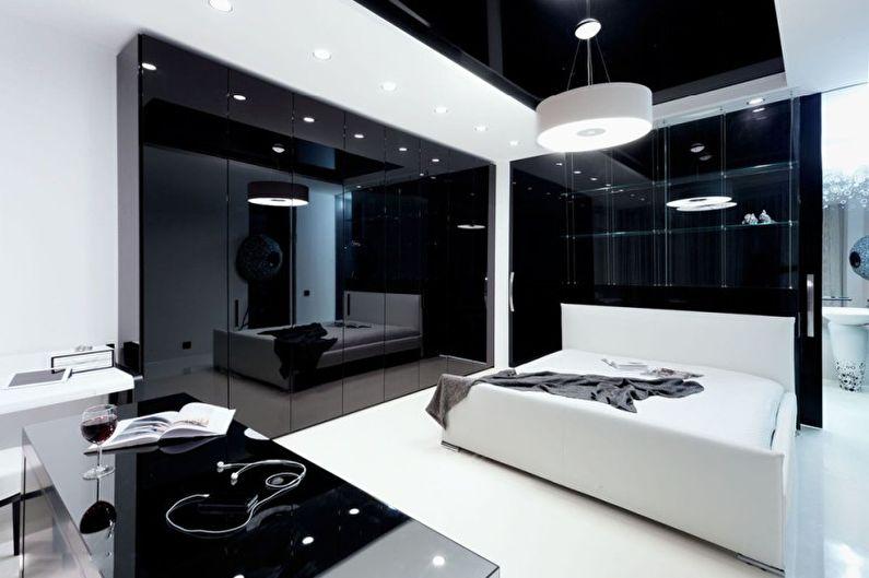 Chambre - Conception d'un appartement dans le style du minimalisme