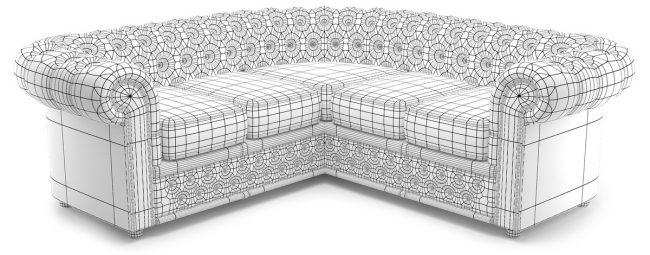 Modèle 3D du canapé