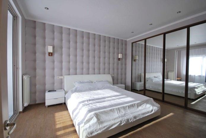 papier peint gris avec effet 3D dans la chambre