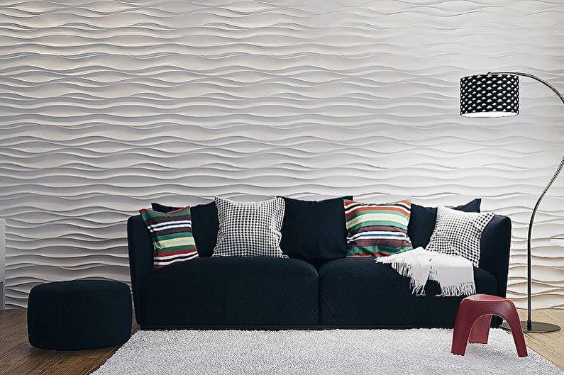 Types de panneaux muraux pour la décoration intérieure - Panneaux de gypse