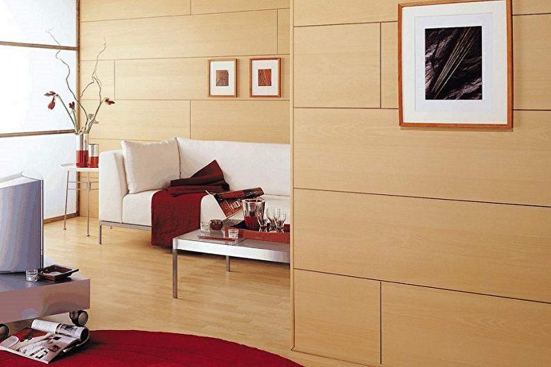 Types de panneaux muraux pour la décoration intérieure - Panneaux de fibres de bois