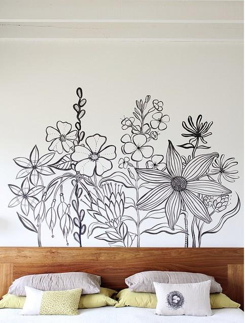 Peinture murale dans la chambre