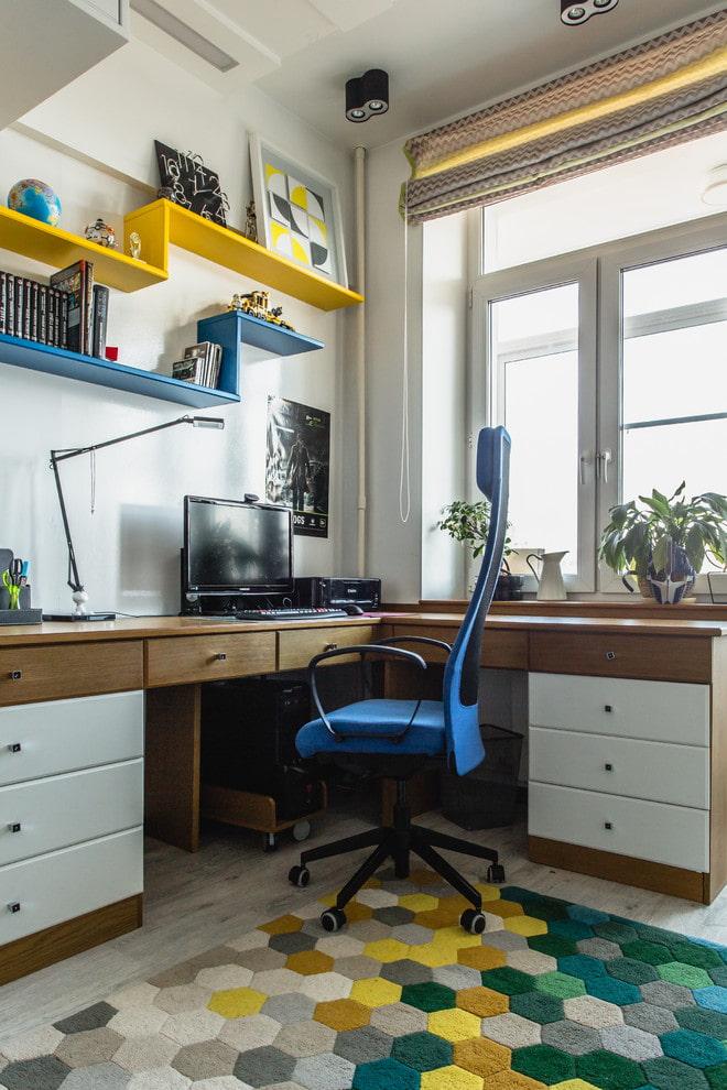 table en bois bicolore