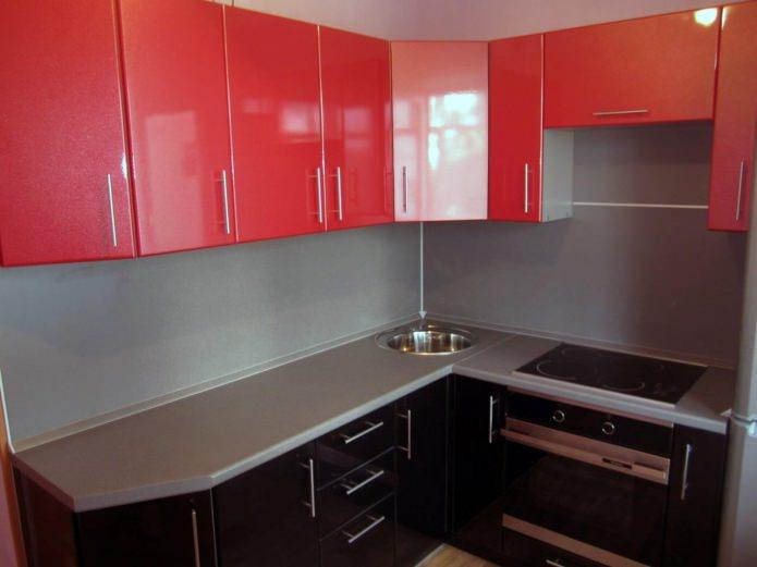 Façades de cuisine en MDF enduit de PVC