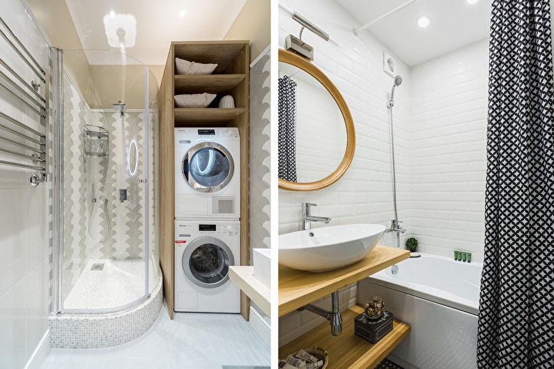 Plafond tendu dans la salle de bain - Style scandinave