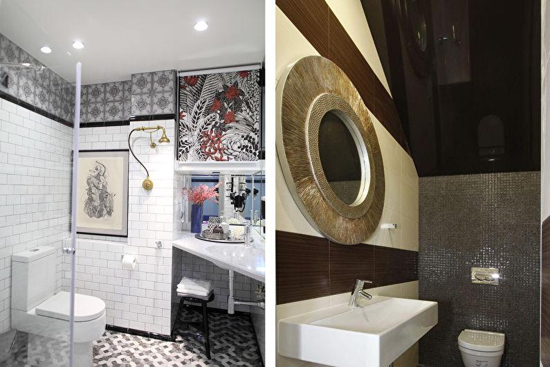 Plafond tendu dans la salle de bain - Avantages et inconvénients