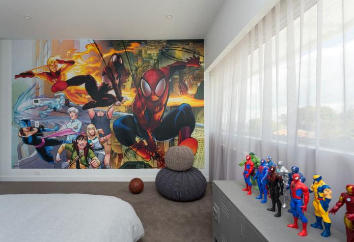 photos murales de spiderman