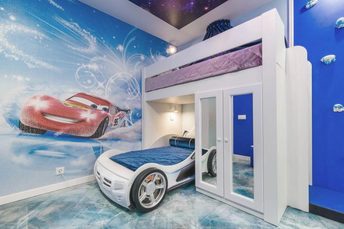 photos murales avec des voitures