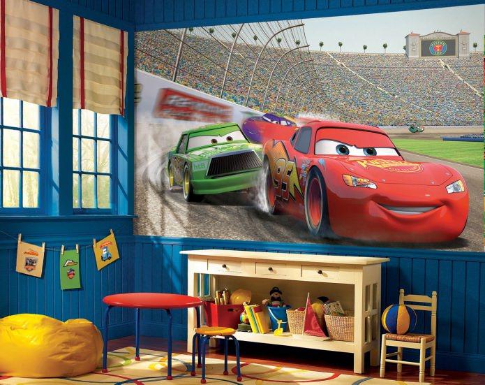 photos murales de voitures de dessins animés
