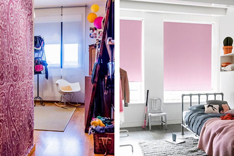 Chambre Scandinave Rose - Décoration d'intérieur