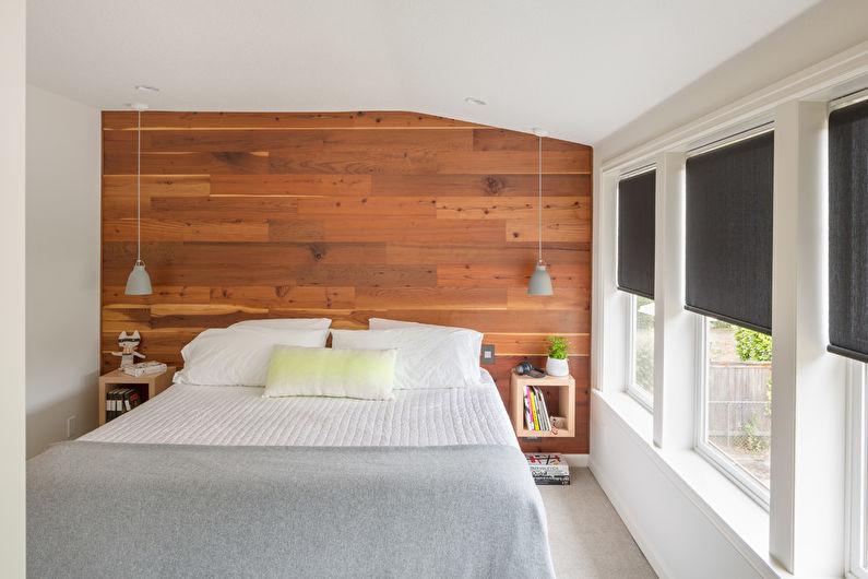 Conception de chambre à coucher de style scandinave - Finition de plafond