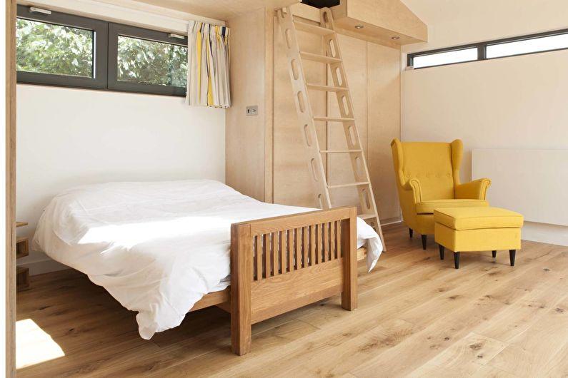Conception de chambre à coucher de style scandinave - Fini au sol