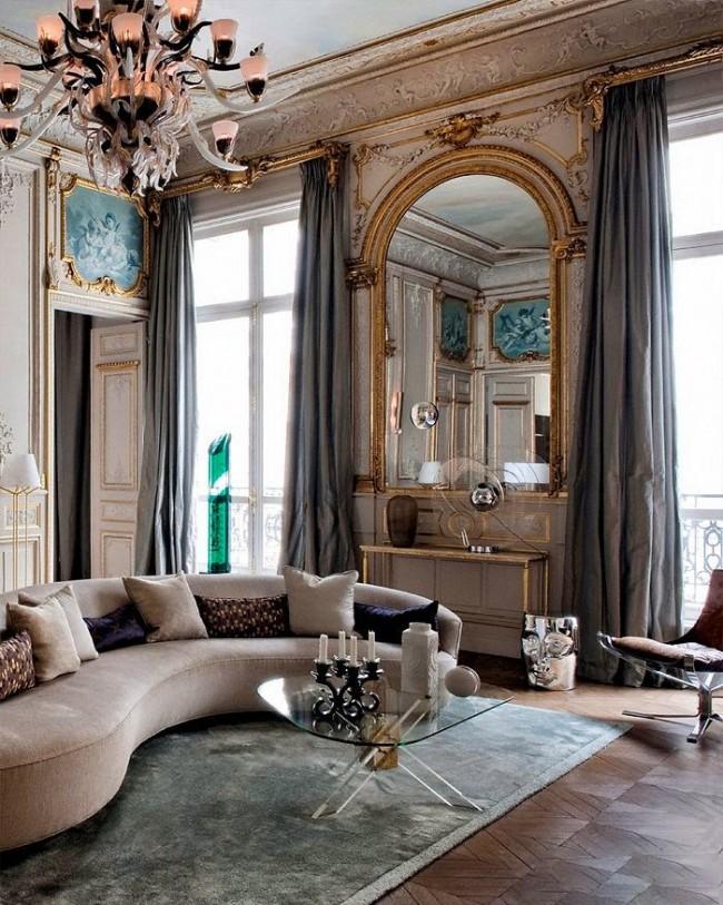 Le choix du parquet de style baroque est très diversifié, de la petite pièce à l'artistique